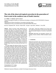 The Role of the Observed Tropical Convec... by Müller, G. V.