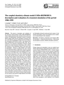 The Coupled Chemistry-climate Model Lmdz... by Jourdain, L.