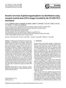 Iterative Inversion of Global Magnetosph... by Lu, L.