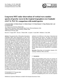 Long-term Mst Radar Observations of Vert... by Narendra Babu, A.