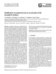 Modification of Conductivity Due to Acce... by Denisenko, V. V.