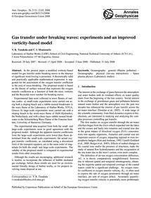 Gas Transfer Under Breaking Waves: Exper... by Tsoukala, V. K.