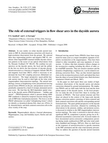 The Role of External Triggers in Flow Sh... by Sandholt, P. E.