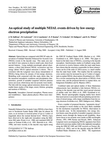 An Optical Study of Multiple Neial Event... by Sullivan, J. M.