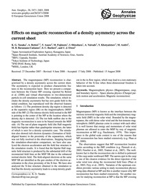 Effects on Magnetic Reconnection of a De... by Tanaka, K. G.