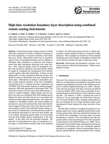 High Time Resolution Boundary Layer Desc... by Gaffard, C.