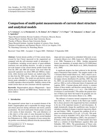 Comparison of Multi-point Measurements o... by Artemyev, A. V.