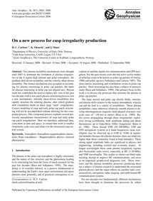On a New Process for Cusp Irregularity P... by Carlson, H. C.