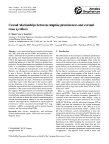 Causal Relationships Between Eruptive Pr... by Filippov, B.