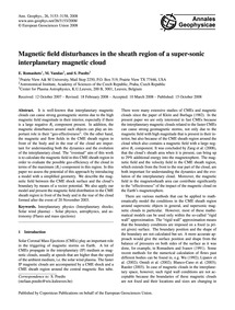 Magnetic Field Disturbances in the Sheat... by Romashets, E.
