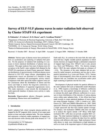 Survey of Elf-vlf Plasma Waves in Outer ... by Pokhotelov, D.