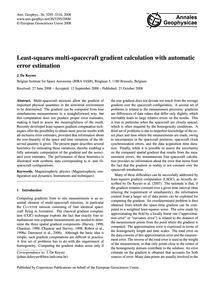 Least-squares Multi-spacecraft Gradient ... by De Keyser, J.