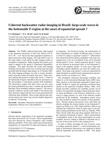 Coherent Backscatter Radar Imaging in Br... by Rodrigues, F. S.