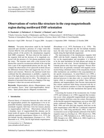 Observations of Vortex-like Structure in... by Tkachenko, O.