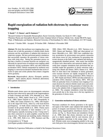 Rapid Energization of Radiation Belt Ele... by Katoh, Y.