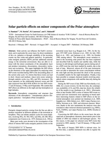 Solar Particle Effects on Minor Componen... by Damiani, A.