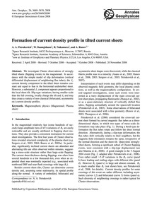 Formation of Current Density Profile in ... by Petrukovich, A. A.