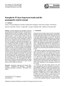Ionospheric F1 Layer Long-term Trends an... by Mikhailov, A. V.