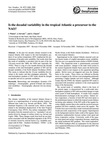 Is the Decadal Variability in the Tropic... by Wainer, I.