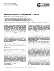 Full Profile Incoherent Scatter Analysis... by Hysell, D. L.