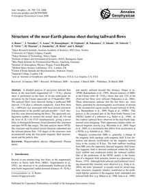 Structure of the Near-earth Plasma Sheet... by Runov, A.