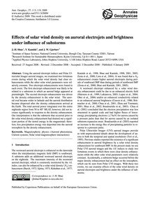 Effects of Solar Wind Density on Auroral... by Shue, J.-h.