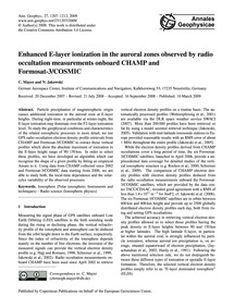 Enhanced E-layer Ionization in the Auror... by Mayer, C.