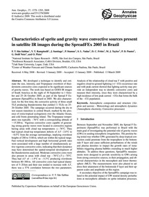 Characteristics of Sprite and Gravity Wa... by São Sabbas, F. T.