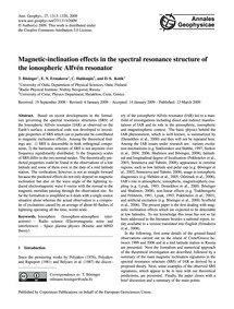 Magnetic-inclination Effects in the Spec... by Bösinger, T.