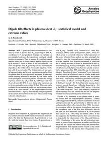 Dipole Tilt Effects in Plasma Sheet BY: ... by Petrukovich, A. A.