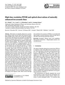 High Time Resolution Pfisr and Optical O... by Michell, R. G.
