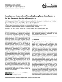 Simultaneous Observation of Traveling Io... by Valladares, C. E.