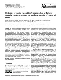 The Impact of Gravity Waves Rising from ... by Alam Kherani, E.