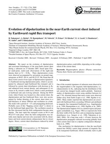 Evolution of Dipolarization in the Near-... by Nakamura, R.