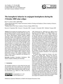 The Ionospheric Behavior in Conjugate He... by Le, H.