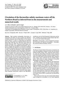 Circulation of the Thermocline Salinity ... by Silva, A. C.