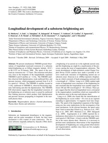 Longitudinal Development of a Substorm B... by Shiokawa, K.