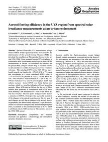 Aerosol Forcing Efficiency in the Uva Re... by Kazadzis, S.