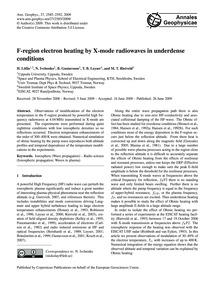 F-region Electron Heating by X-mode Radi... by LöfÅS, H.