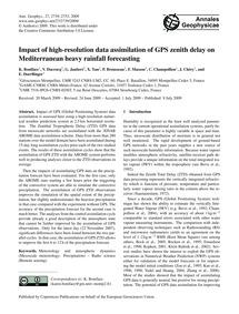 Impact of High-resolution Data Assimilat... by Boniface, K.