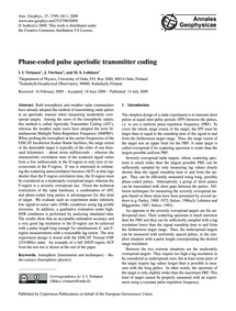 Phase-coded Pulse Aperiodic Transmitter ... by Virtanen, I. I.