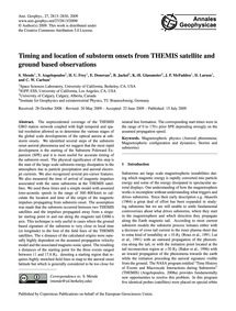 Timing and Location of Substorm Onsets f... by Mende, S.