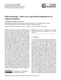 Solar Stereoscopy – Where Are We and Wha... by Wiegelmann, T.