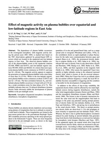 Effect of Magnetic Activity on Plasma Bu... by Li, G.
