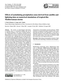 Effects of Assimilating Precipitation Zo... by Fita, L.