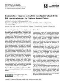 Boundary Layer Structure and Stability C... by Pérez, I. A.