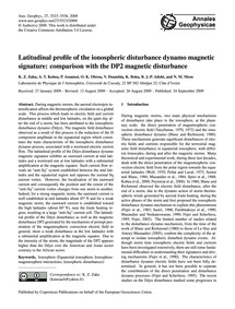 Latitudinal Profile of the Ionospheric D... by Zaka, K. Z.