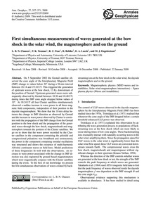 First Simultaneous Measurements of Waves... by Clausen, L. B. N.