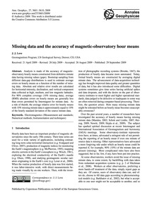 Missing Data and the Accuracy of Magneti... by Love, J. J.