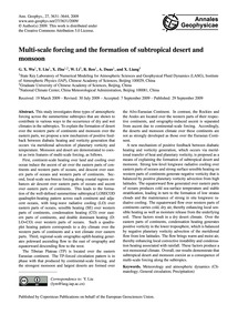 Multi-scale Forcing and the Formation of... by Wu, G. X.
